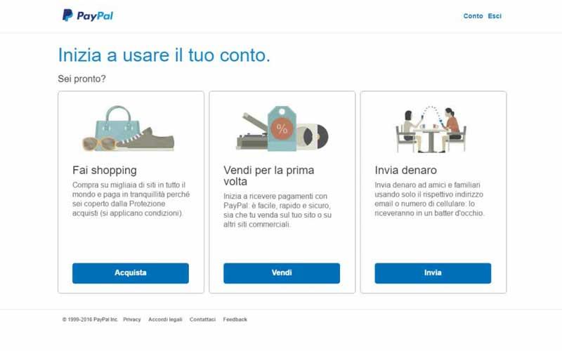 PayPal: inizia