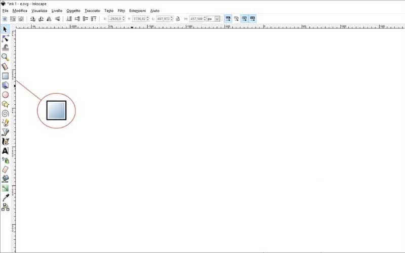 Carta intestata: Inkscape, quadrati