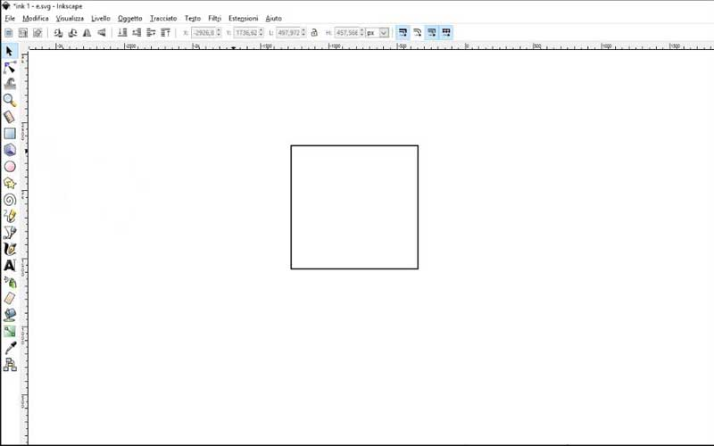 Carta intestata: Inkscape, quadrato